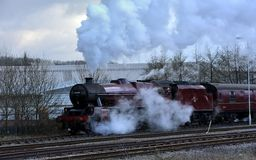 45699 Galatea under steam Royalty Free Stock Images