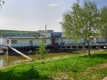 Galati办公室在布勒伊拉,罗马尼亚降低多瑙河管理 库存照片