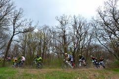 GALATI, РУМЫНИЯ - 5-ОЕ АПРЕЛЯ: Неизвестные гонщики на конкуренции  Стоковое Изображение RF