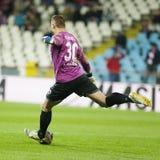 GALATI - 10月, 19日:芦粟Gaz Metan Buchta在罗马尼亚联赛期间的 免版税库存图片