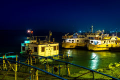 Galati ferry by night Stock Images