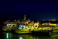 Galati ferry station by night Stock Image