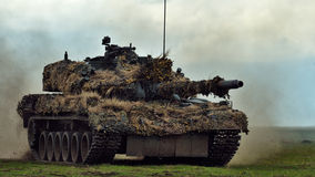 GALATI, ROMANIA - APRIL 22: Romanian tanks TR-85M1 in military p Stock Photos