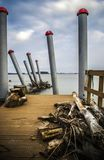 Galati, Rumänien - 2. März 2013: Verlassener Hafen Lizenzfreies Stockbild