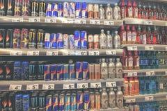 GALATI RUMUNIA, KWIECIEŃ, - 04: Fotografie przy Hypermarket Auchan uroczysty o Obrazy Royalty Free