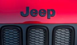 GALATI RUMUNIA, WRZESIEŃ, - 2, 2017: Dżip jest gatunkiem Amerykańscy samochody które produkują wyłącznie sportów pojazdy użytkowi obraz stock