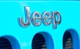 GALATI RUMUNIA, WRZESIEŃ, - 2, 2017: Dżip jest gatunkiem Amerykańscy samochody które produkują wyłącznie sportów pojazdy użytkowi zdjęcia royalty free