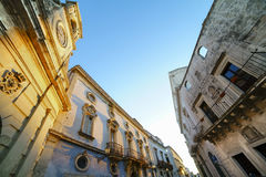 Galatina Town in Salento - Detail of the historic center Royalty Free Stock Image