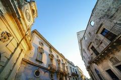 Galatinastad in Salento - Detail van het historische centrum Royalty-vrije Stock Afbeelding