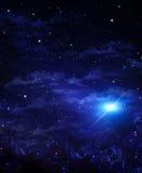 Galax blå bakgrund för abstrakt begrepp Arkivbilder