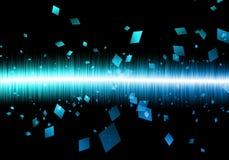 Galax blu astratto del nero del soundwave di rettangolo del soundwave Fotografie Stock