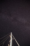 Galax för mjölkaktig väg i Padi Beach Symi Greece Royaltyfria Foton
