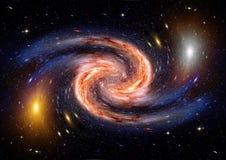 Galax i ett fritt utrymme Royaltyfria Bilder