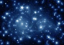 Galax i ett fritt utrymme Arkivbild