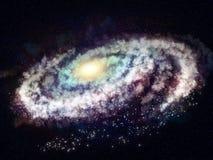 galax i utrymmet Arkivbild