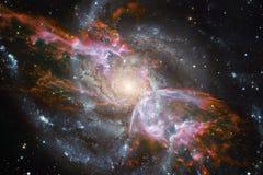 Galax i yttre rymd, skönhet av universum Beståndsdelar av denna avbildar möblerat av NASA royaltyfri foto