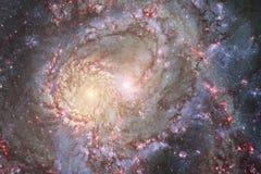 Galax någonstans i yttre rymd Beståndsdelar av denna avbildar möblerat av NASA royaltyfri illustrationer