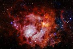 Galax någonstans i yttre rymd Beståndsdelar av denna avbildar möblerat av NASA royaltyfria bilder