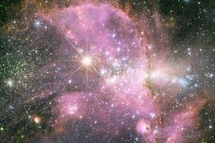 Galax n?gonstans i yttre rymd Best?ndsdelar av denna avbildar m?blerat av NASA arkivbild
