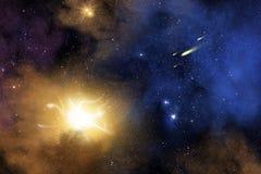 Galax och nebula Arkivbilder