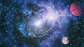 Galax och nebula abstrakt bakgrundsavstånd Beståndsdelar av denna avbildar möblerat av NASA Arkivfoton