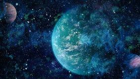 Galax och nebula abstrakt bakgrundsavstånd Beståndsdelar av denna avbildar möblerat av NASA Royaltyfri Fotografi