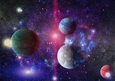 Galax och nebula abstrakt bakgrundsavstånd Beståndsdelar av denna avbildar möblerat av NASA Royaltyfri Foto