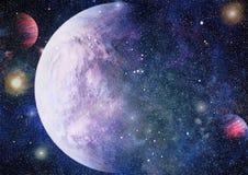 Galax och nebula abstrakt bakgrundsavstånd Beståndsdelar av denna avbildar möblerat av NASA Arkivbilder