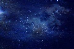 Galax och nebula Stjärnklar yttre rymdbakgrundstextur Royaltyfri Bild