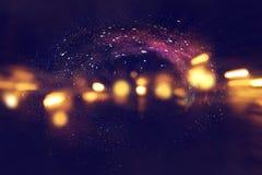 Galax och nebula Stjärnklar yttre rymdbakgrundstextur Fotografering för Bildbyråer