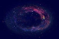 Galax och nebula Stjärnklar yttre rymdbakgrundstextur Royaltyfri Fotografi
