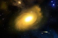 Galax och nebulosa Royaltyfria Foton