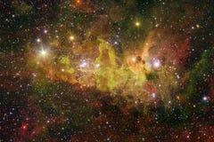 Galax starfield, nebulosor, klunga av stjärnor i djupt utrymme Sciencekonst royaltyfria bilder