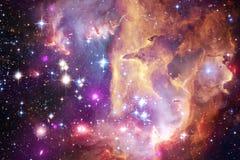 Galax starfield, nebulosor, klunga av stj?rnor i djupt utrymme Sciencekonst royaltyfri bild