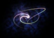 Galaxabstrakt begrepp royaltyfri illustrationer