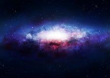 Galaxbakgrund Fotografering för Bildbyråer