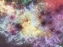 Galaxbakgrund Arkivfoto
