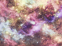 Galaxbakgrund Royaltyfria Bilder