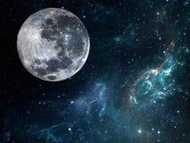 Galaxbakgrund med planeten Kosmisk illustration Fotografering för Bildbyråer