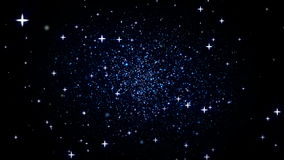 Galaxen zoomar in stock illustrationer