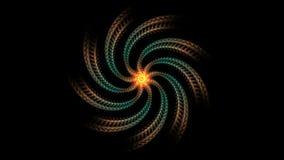 galaxer 4k rullar frambragda spirala hypnotiska väderkvarnar, vindkraftenergikanal stock illustrationer