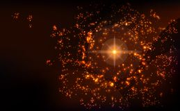Galaxi space background with nebula and stars. Royalty Free Stock Images