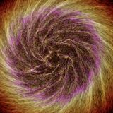 Galaxia colorida abstracta que gira creando modelos interesantes ilustración del vector