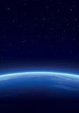 Galaxia con las estrellas, fondo del horizonte ilustración del vector