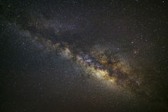 Galaxia de la vía láctea, fotografía larga de la exposición, con el grano Fotos de archivo libres de regalías