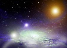 Galaxia en un espacio libre Fotografía de archivo