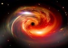 Galaxia en un espacio libre Fotos de archivo