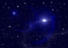 Galaxia en un espacio libre Imagenes de archivo