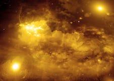 Galaxia en un espacio libre Foto de archivo