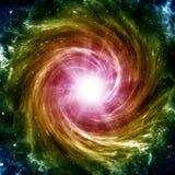 Galaxia espiral coloreada Imagen de archivo